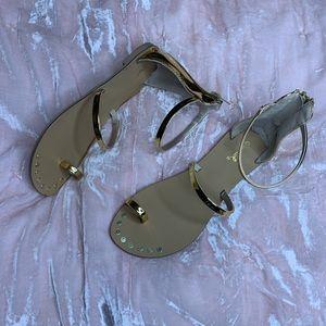 Gold Sandals 6.5
